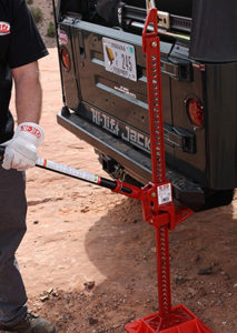 Hi-Lift Jack in use