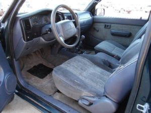 High mileage Toyota Tacoma interior