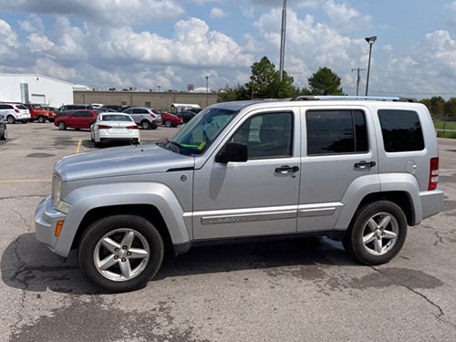 Jeep Liberty in parking lot